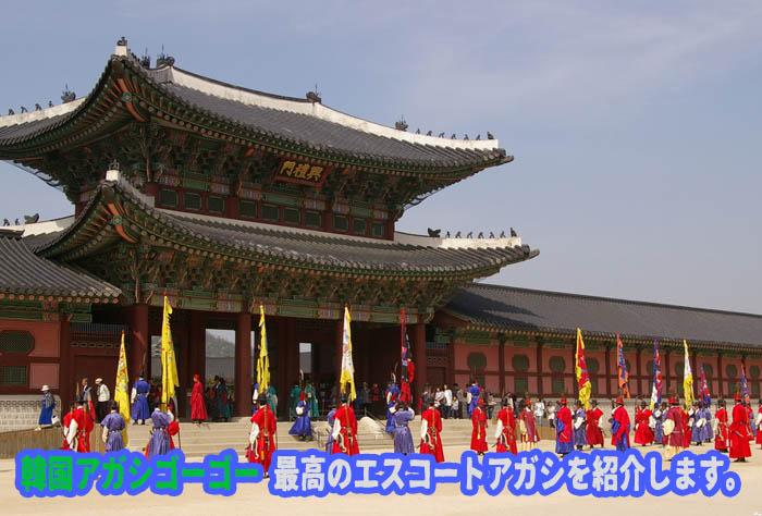 エスコートアガシ と 景福宮(キョンボックン)